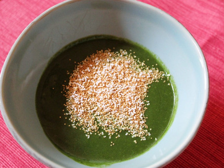 Easy spinach soup with amaranth