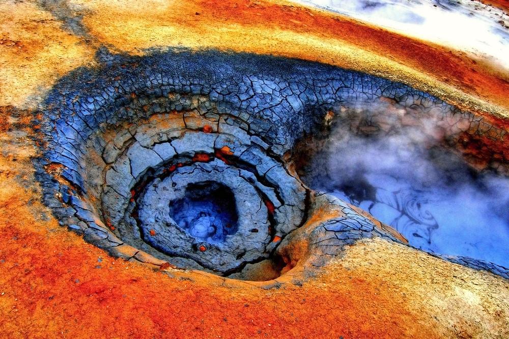 Cratère et volcan en Islande