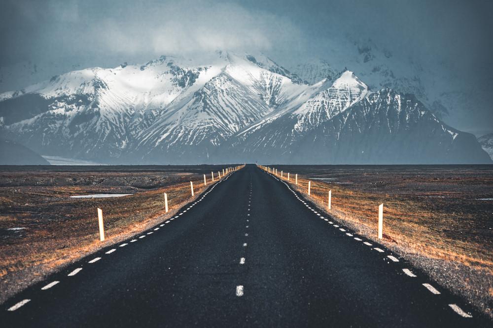 Route numéro 1 en hiver, Islande
