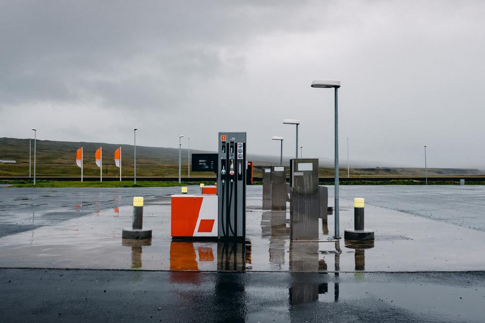 Station essence en chemin pour les fjords de l'ouest d'Islande