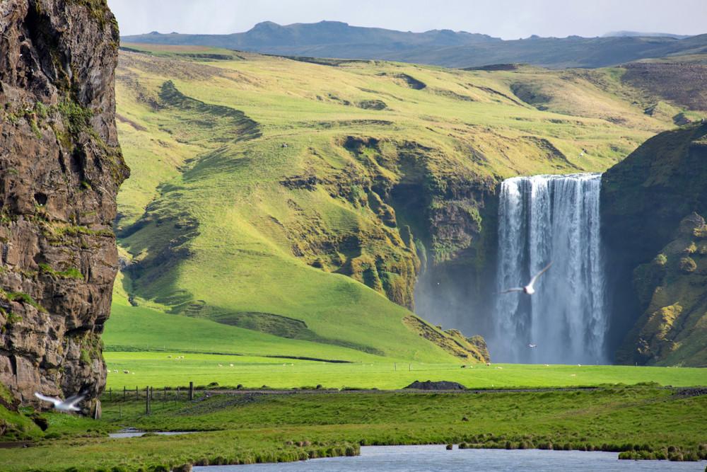 Cascade sud de la route numéro 1 en Islande