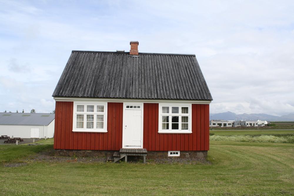 Maison islandaise musée de plein air Reykjavik