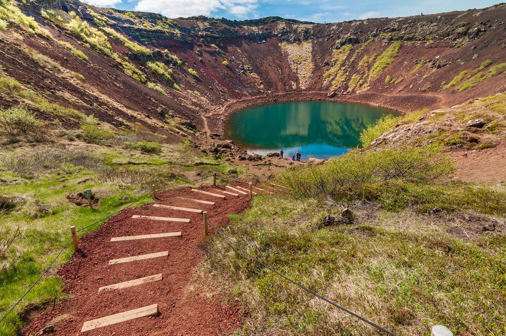 Le cratère de Kerid en Islande