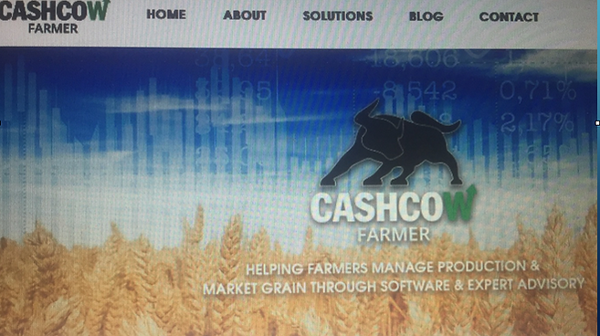 Homepage of Cash Cow Farmer website showing primarily feature-based marketing efforts.