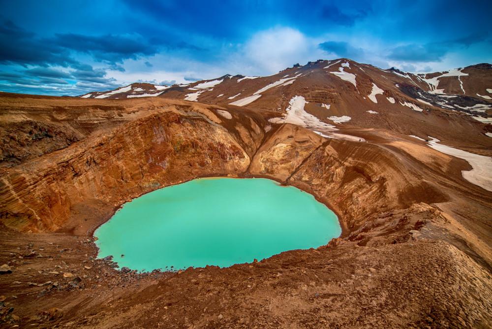 Le cratère de Viti et le volcan Askja
