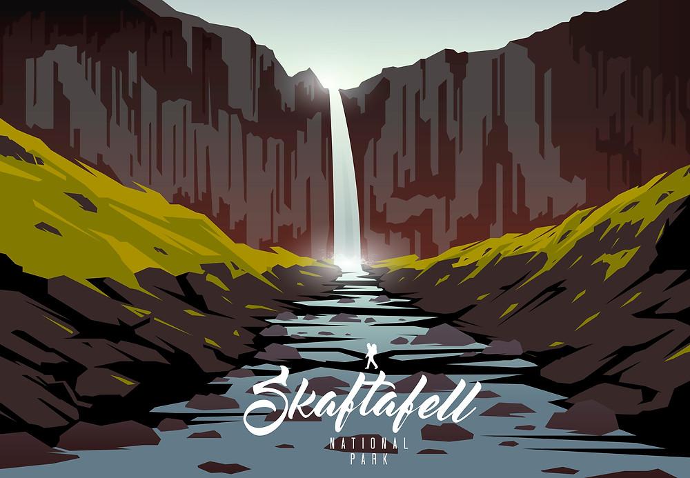 Illustration du parc national de Skaftafell en Islande