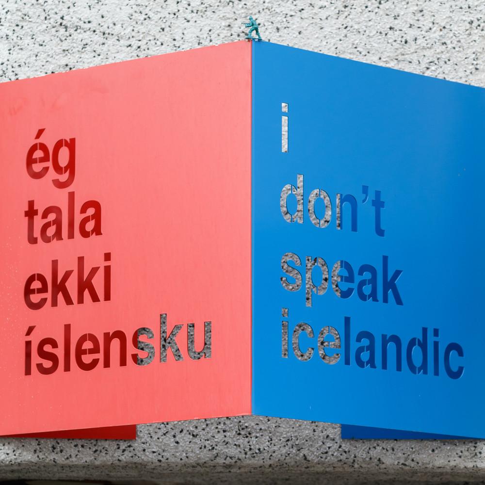 Je ne parle pas islandais - langue islandaise
