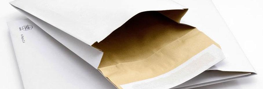 K-Pack, pochette matelassée en papier