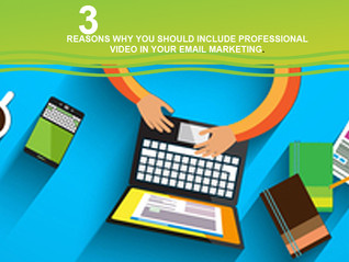 3 Reasons Why You Should Use Video In Your Email Marketing.