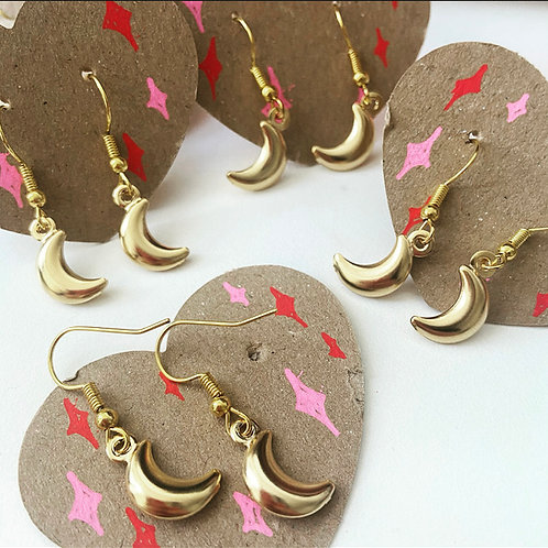 GOLDEN CRESCENT - Earrings