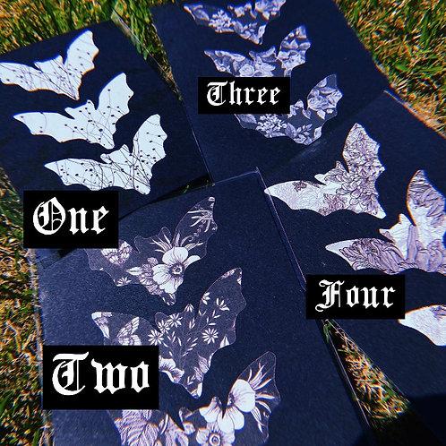 A5 Botanical Bats Print