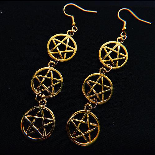Pentacle Drop Earrings