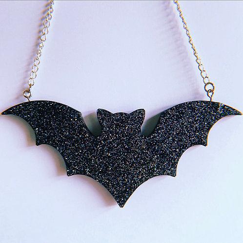 Black & Silver Bat Hanging