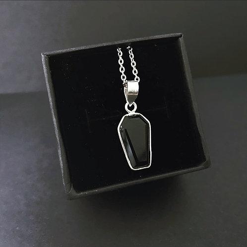 BLACK ONYX COFFIN - Necklace