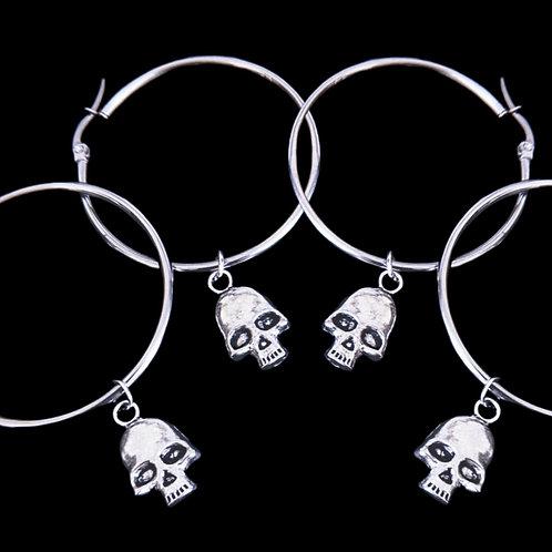 SKULL - Hoop Earrings