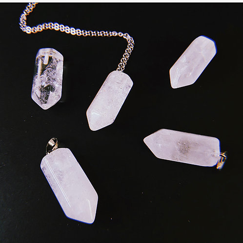 NATURAL QUARTZ Point Necklace