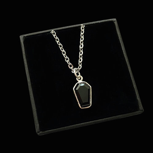 BLACK ONYX SLEEP TIGHT - Sterling Silver Necklace