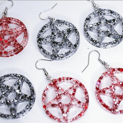 Large Pentagram - Earrings
