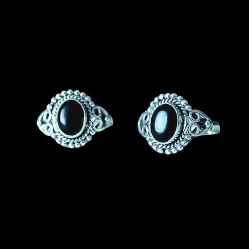 BLACK ONYX - Sterling Silver Ring