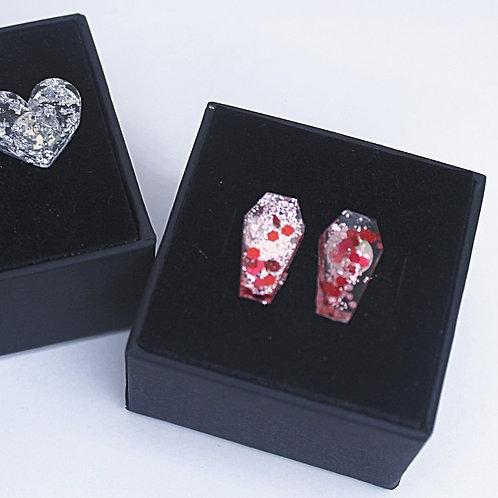 Pink Casket - Stud Earrings