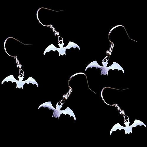 SILVER BAT - Earrings
