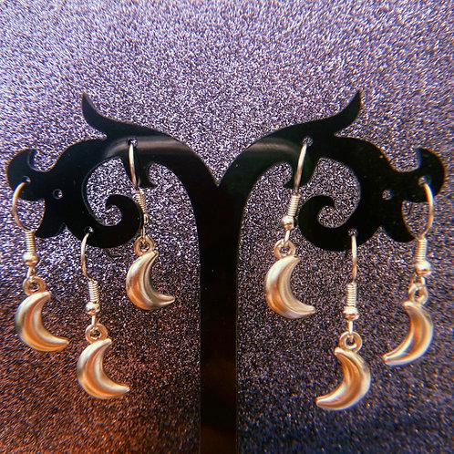 Mini Moon Earrings