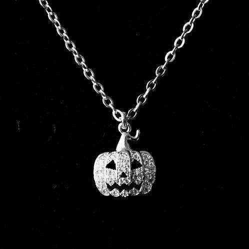 Cubic Zirconia Pumpkin Necklace