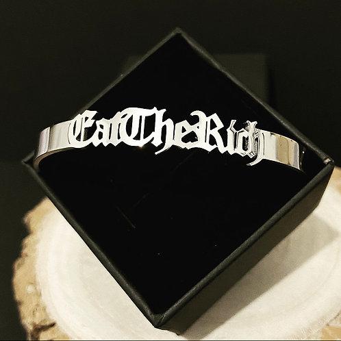 Eat The Rich Alternative Bracelet Bangle