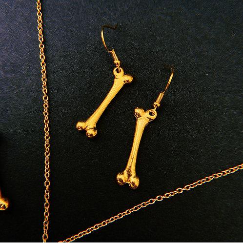 Golden Femur Earrings