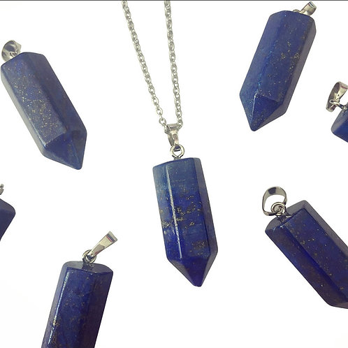 BLUE GOLDSTONE Point Necklace