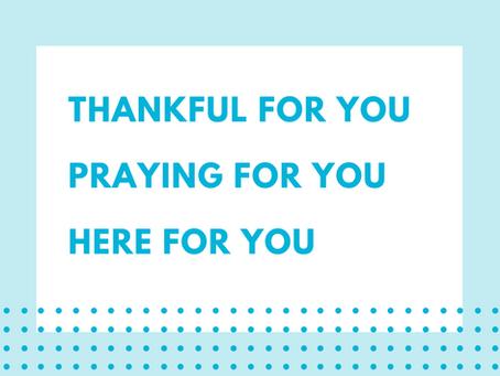 Free Prayer Postcard for Teachers