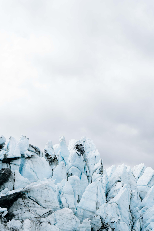 the ice fall on the matanuska glacie