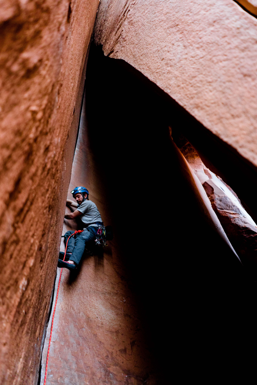 rock climber indian creek utah