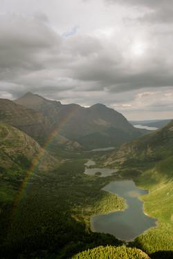 rainbow in glacier national park