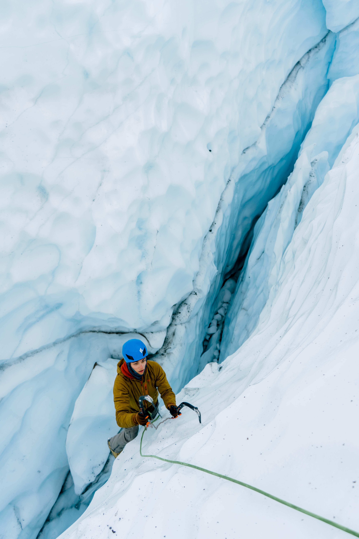 ice climber on the matanuska glacier