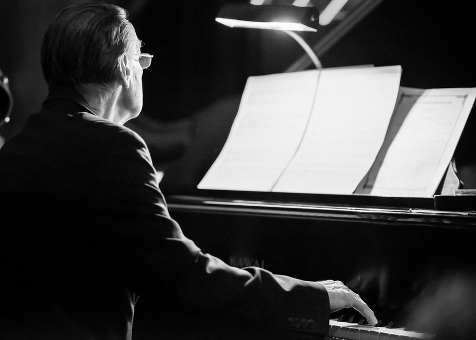 Pianist in Black and White