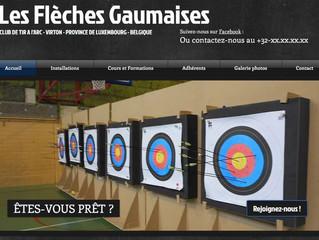 Nouveau site en démo : Les Flèches Gaumaises, club et école de tir à l'arc