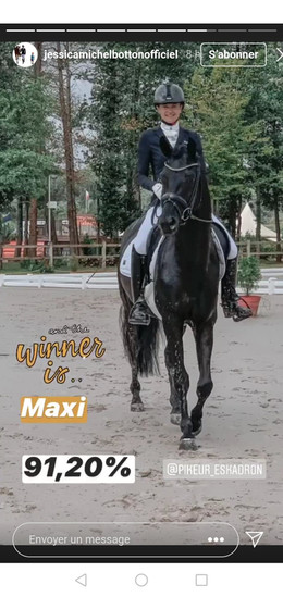 Maximus en première place - 4 ans - Le Mans 2020