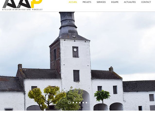 L'Atelier d'Architecture PONCELET et Website Creation by RG travaillent ensemble ...