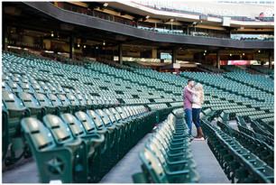 Baseball Stadium & Legacy Park Engagement Session