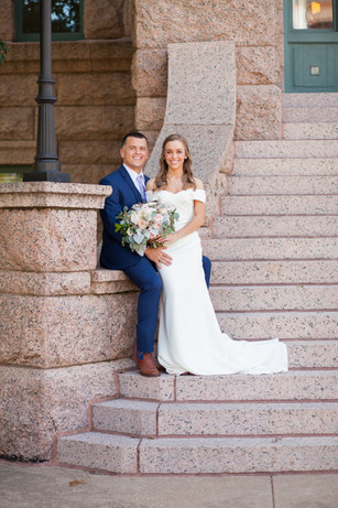 Mr. & Mrs. Giebler - Fort Worth Courthouse Wedding