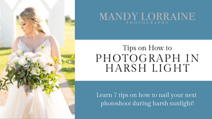 Tips For Photographing in Harsh Light