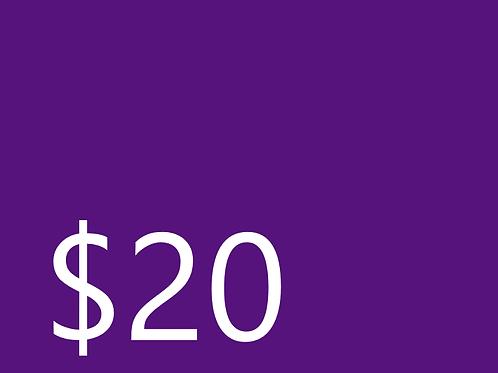 Club Dues $20