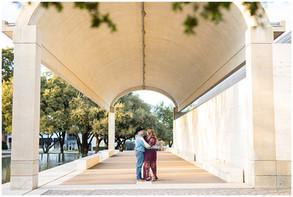 Modern Art Museum Engagement Session | KC & Brittney