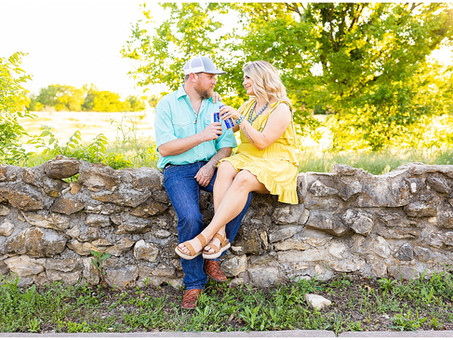 Spring Country Engagement Session in Fort Worth, Texas