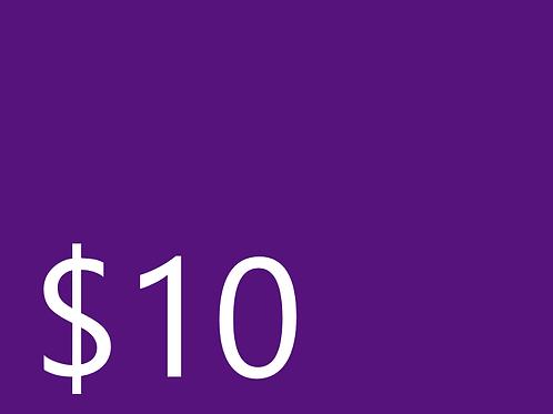 Club Dues $10