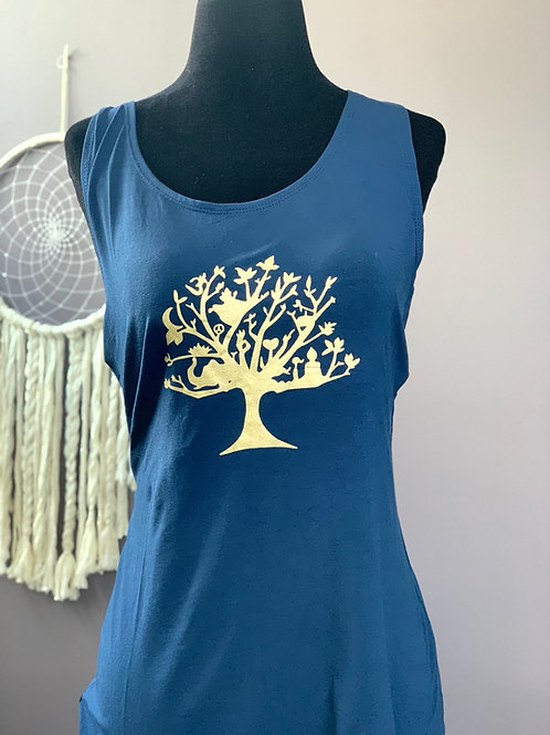 Navy Blue Shredder with Tree of Life XXL