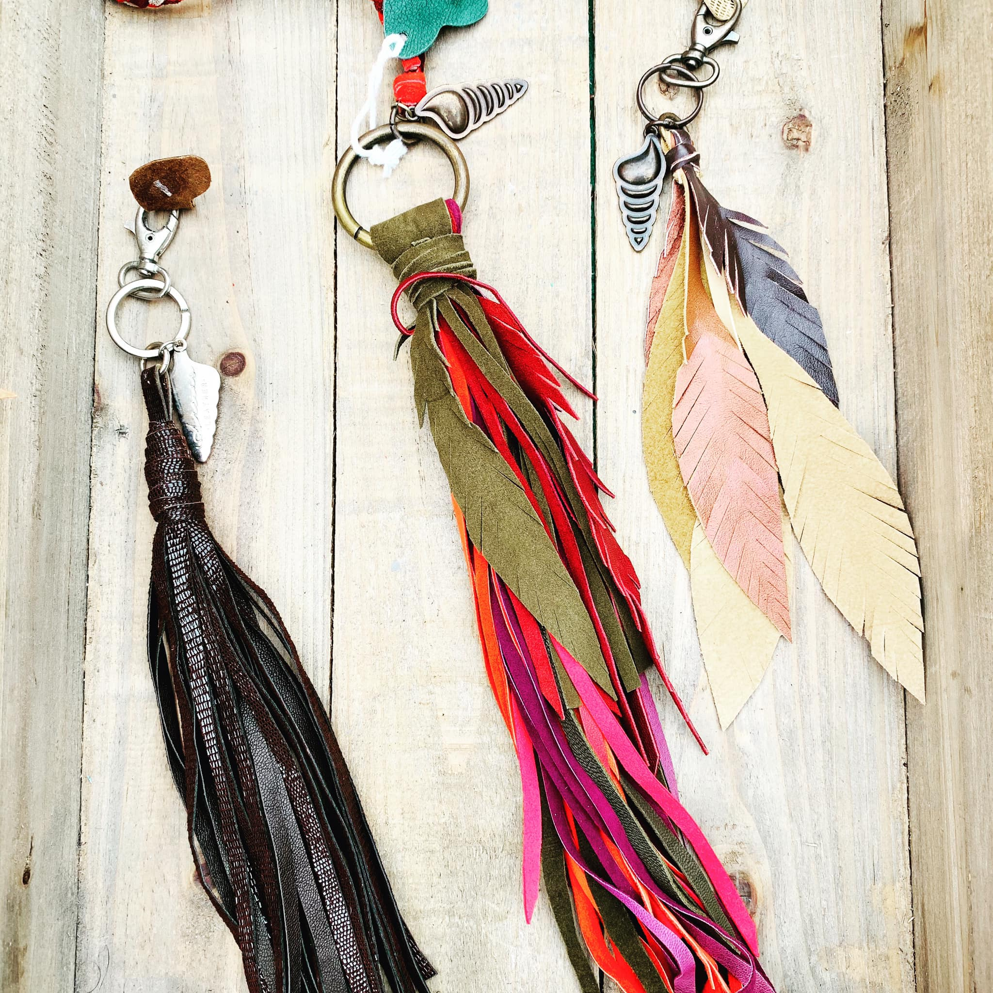 Artisan Made Leather Tassles