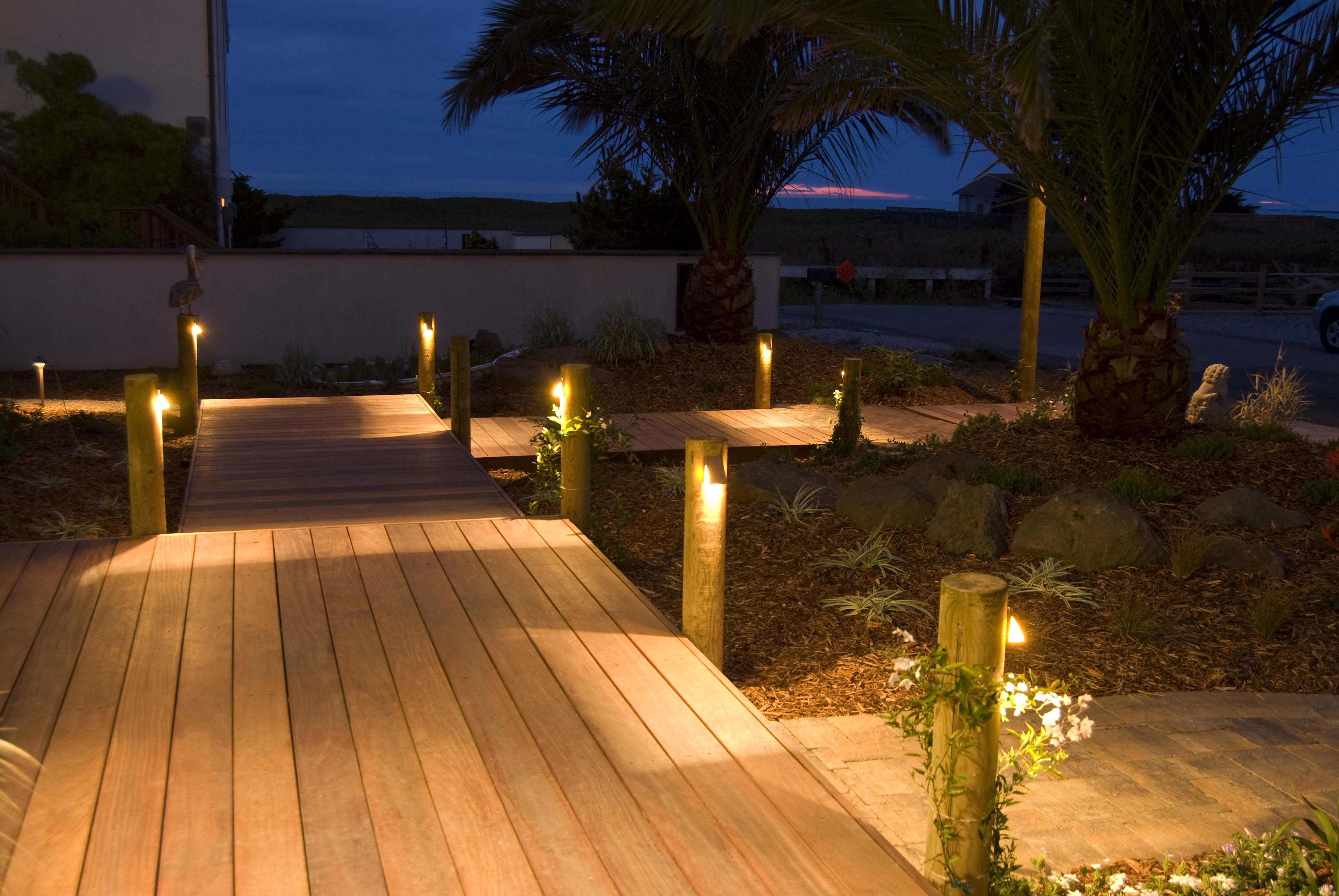 Outdoor decking and lighting