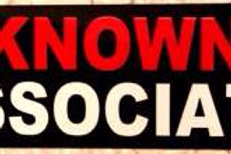 """KNOWN ASSOCIATE"" STICKER - BLACK"